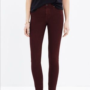 "Madewell 9"" High Riser Garment Dyed Edition"